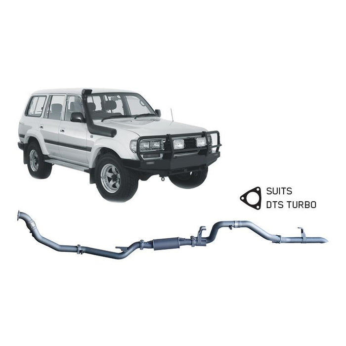 Redback 4x4 Extreme Duty - 4x4 Performance Exhaust To Suit Toyota Landcruiser 80 Series (1990-1998) (DTS)