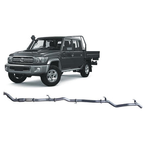 Redback 4x4 Extreme Duty - 4x4 Performance Exhaust To Suit Toyota Landcruiser 79 Series (2012-2016) (For LRA Fuel Tank)