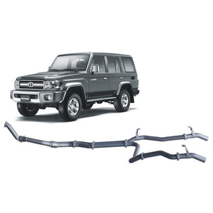Redback 4x4 Extreme Duty - 4x4 Performance Exhaust To Suit Toyota Landcruiser 79 Series (2007-2016) (Twin Pipe System)