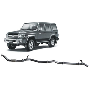 Redback 4x4 Extreme Duty - 4x4 Performance Exhaust To Suit Toyota Landcruiser 76 Series (2007-2016) (Single Pipe System) (LRA Fuel Tank)