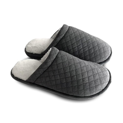 Sherpa House Slippers w/Memory Foam