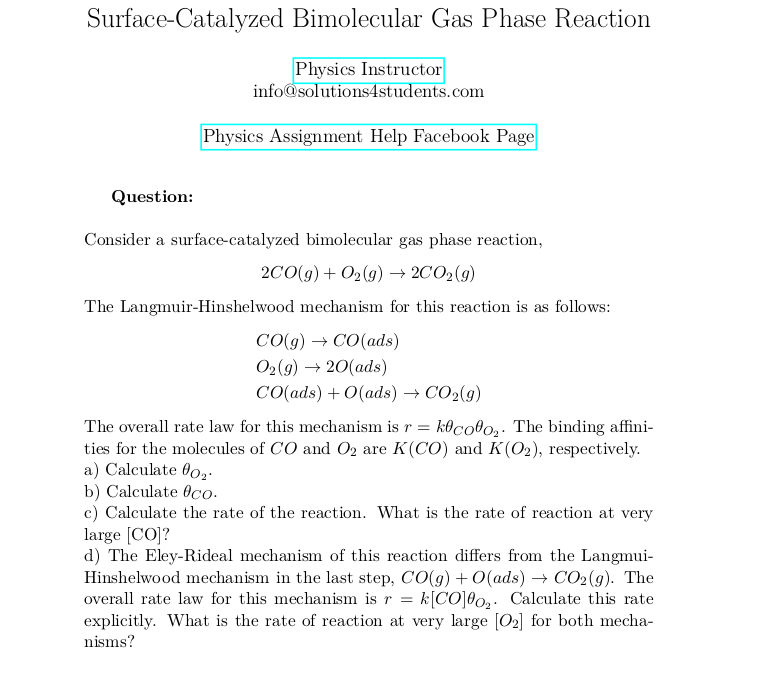 Surface-Catalyzed Bimolecular Gas Phase Reaction