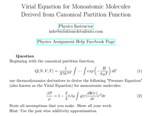 Virial Equation for Monoatomic Molecules Derived from Canonical Partition Function