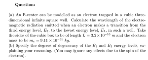 F-Center: An Electron Trapped in an Infinite Cubic Well