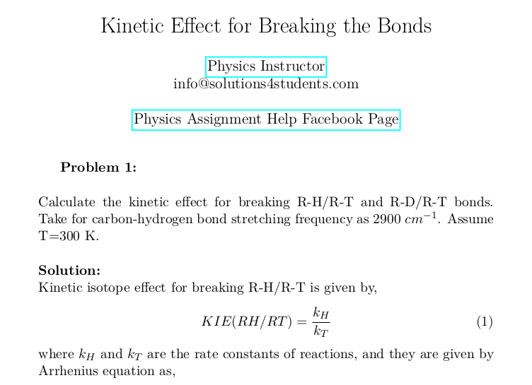Kinetic Effect for Breaking the Bonds