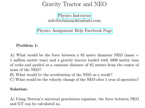 Gravity Tractor and NEO