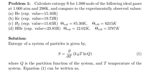 Entropy of Monatomic and Diatomic Ideal Gases