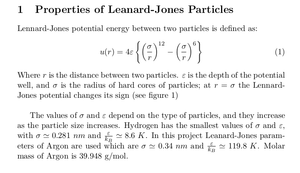 Molecular Dynamics Simulation of Lennard-Jones Fluid