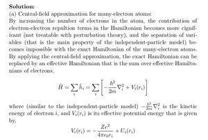 Central-Field Approximation for Many-Electron Atoms