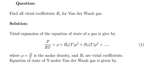 Virial Coefficients of Van der Waals Gas