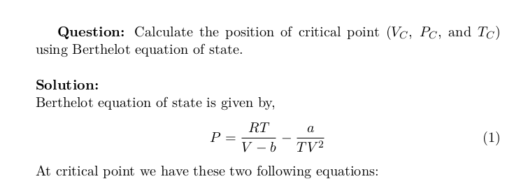 Critical Points of Berthelot Equation of State