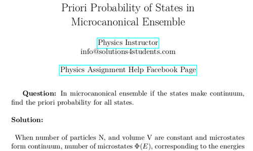 Priori Probability of States in Microcanonical Ensemble