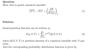 Grand Canonical Ensemble: Variance in Number of Particles