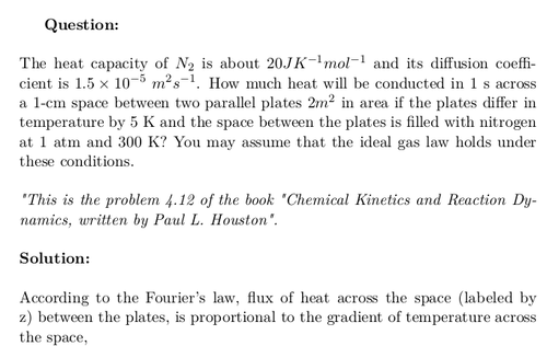 Heat Flux Between Two Parallel Plates