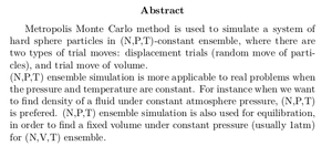 Monte Carlo Simulation of Hard Sphere Fluid in Isothermal-Isobaric (N,P,T) Ensemble