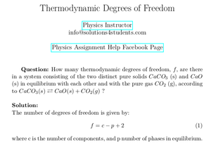 Thermodynamic Degrees of Freedom