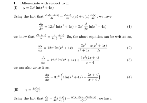 Calculus Questions and Solutions