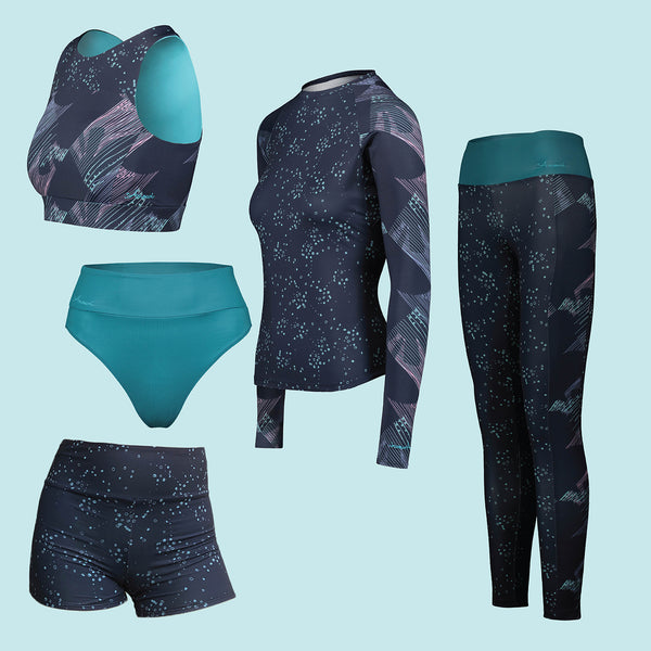 Navy Geoluminescence Eco Friendly Swim & Surf wear Bundle +50 UPF
