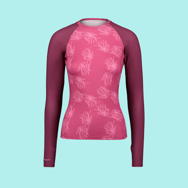 Second Skin Rash Guard in Very Berry