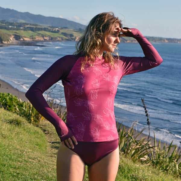 Eco Friendly Rash Guard For Women Bundle +50 UPF - Anowi Surfwear