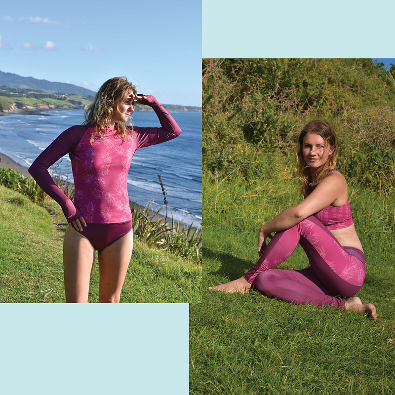Very Berry Pink Eco Friendly Swim & Surf wear Bundle +50 UPF - Anowi Surfwear