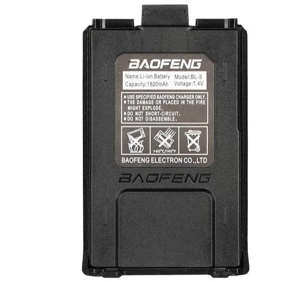 Baofeng Battery BL-5 7.4V 1800 mAh Big Capacity Li-ion for DM-5R UV-5R UV-5RE BF-F8HP UV-5R V2+ Plus UV-5RTP Series Two