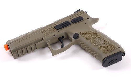 ASG CZ P-09 Airsoft Gas Blowback Pistol (Color: Tan)