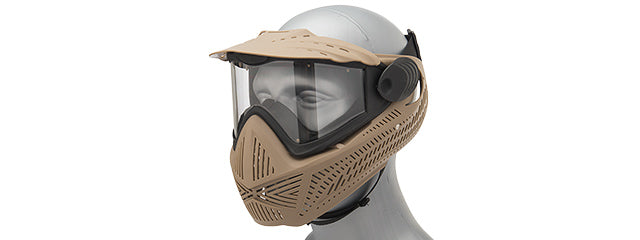 AC-0026T G-Force F2 Single Layer Full Face Mask - TAN