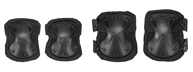 AC-478B Tactical Quick-Release Knee & Elbow Pad Set (Black)
