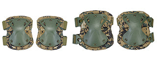 AC-478M Tactical Quick-Release Knee & Elbow Pad Set (Marpat)