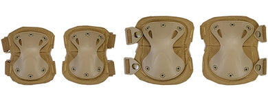 AC-478T Tactical Quick-Release Knee & Elbow Pad Set (Tan)