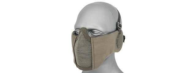 AC-643GY Tactical Elite Face and Ear Protective Mask (Gray)