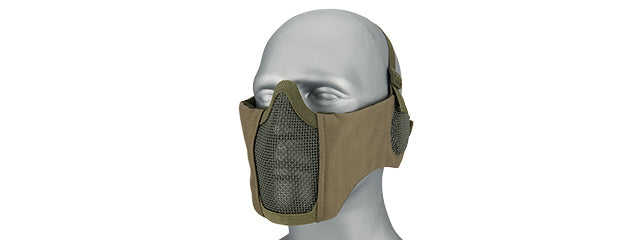 AC-643G Tactical Elite Face and Ear Protective Mask (OD Green)