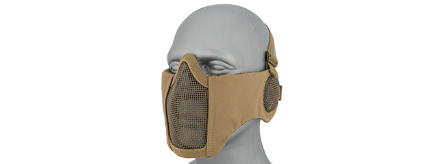 AC-643T Tactical Elite Face and Ear Protective Mask (TAN)