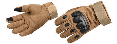 Lancer Tactical Airsoft Hard Knuckle Gloves [Medium] (TAN)