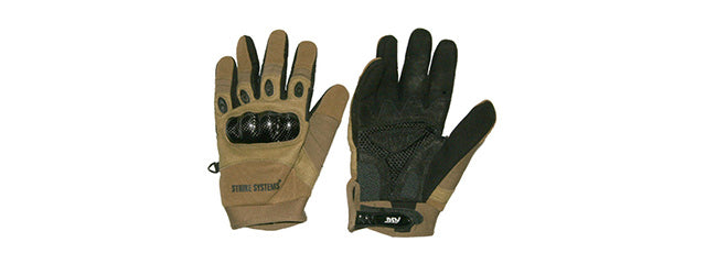 ASG Strike Systems Molded Kevlar Assault Gloves - X-Large Tan/Black