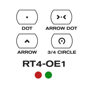 AIM SPORTS 1X34MM DUAL ILL. W/ 4 Different Reticles/OPERATOR EDITION