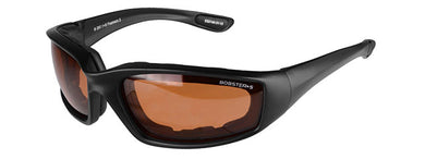 Bobsters Foamerz 2 Full Seal ANSI Z87 Rated Eye Protection Amber Lens