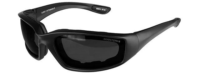 Bobsters Foamerz 2 Full Seal ANSI Z87 Rated Eye Protection Smoke Lens