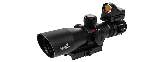 CA-1419 3-9X42 RED & GREEN ILLUMINATED LONG RANGE SCOPE W/ BACKUP RED DOT SIGHT