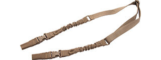 CA-2075K Lancer Tactical 2-Point Bungee Sling with Dual Buckles (Tan)