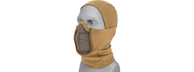 Shadow Warrior Hood Mesh Balaclava (Tan) CA-2108T