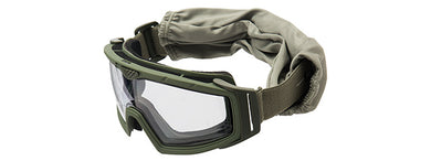 Lancer Tactical Rage Protective OD Green Airsoft Goggles (CLEAR LENS)