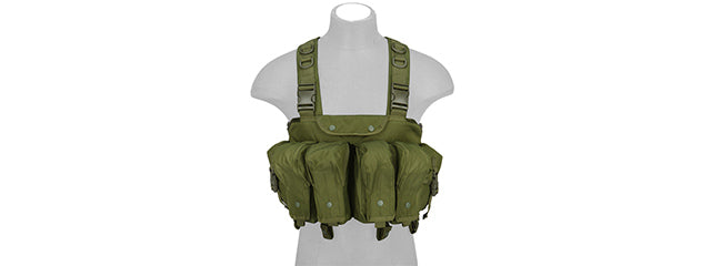 CA-308GN Nylon AK Chest Rig (OD Green)