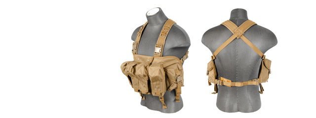 CA-308TN Nylon AK Chest Rig (Tan)