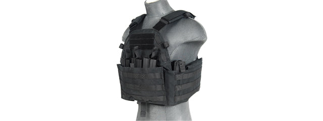 CA-311B2N 1000D Nylon Airsoft Molle Plate Carrier (Black)