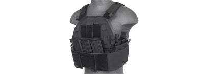 LANCER TACTICAL SLK PLATE CARRIER w/SIDE PLATE DUAL-MAG COMPARTMENT