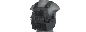 Lancer Tactical SLK Plate Carrier w/Side Plate Dual-Mag Compartment Black