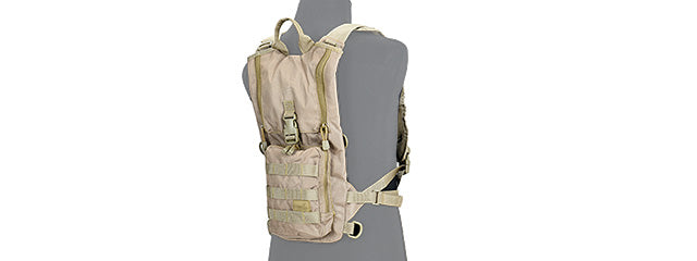 CA-321KN Nylon Lightweight Hydration Pack (Coyote Brown)