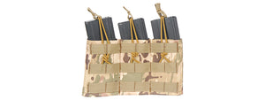CA-379C Nylon Variable Depth Adjustment Molle Triple Mag Pouch (Camo)